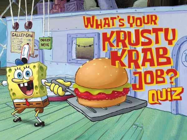 SpongeBob SquarePants: What's Your Krusty Krab Job? I'm the fry ...