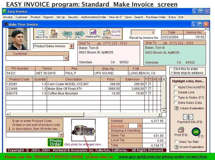 1 Easy Invoice Program - Free Download 6.00 Free Download and ...