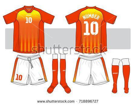 Set Soccer Jersey Football Kit Template Stock Vector 557649094 ...