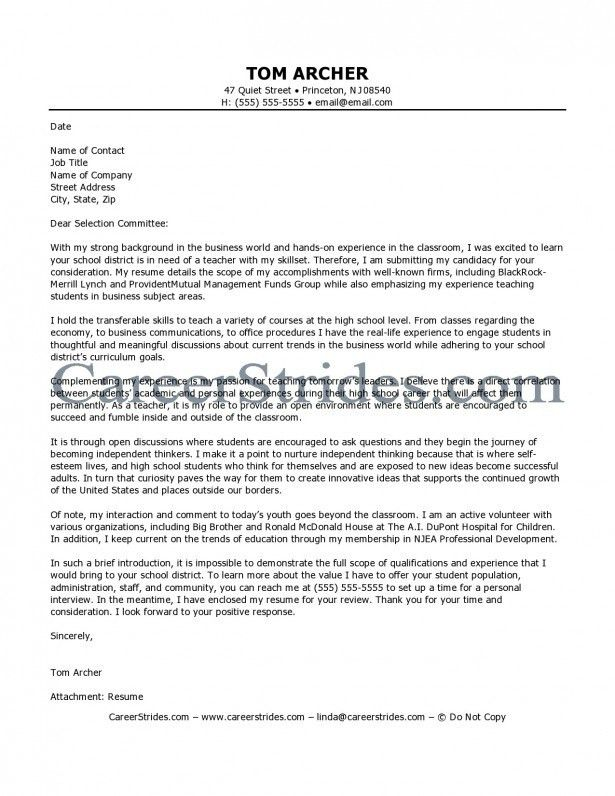 Cover Letter Cover Letter for Substitute Teacher Position No ...