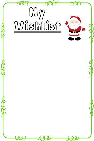 Christmas Wishlist Templates {Freebie} | The Mommy Teacher