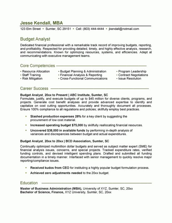 financial analyst resume description entry level financial analyst ...