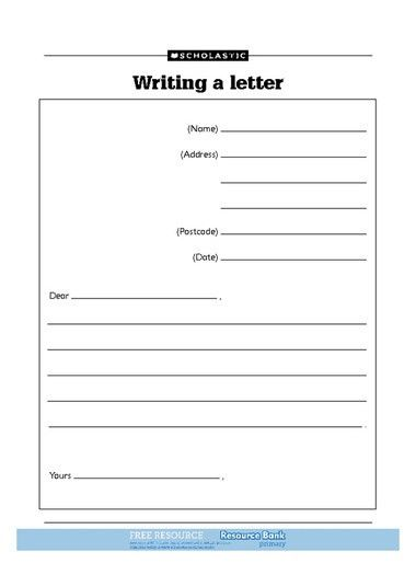Letter Template For Kids | gplusnick