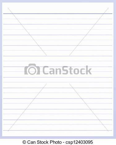 Stock Illustration of A Sheet of Purple Color Lined Paper - A ...