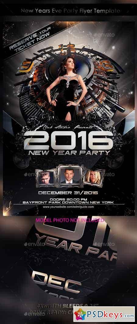 New Years Eve Party Flyer Template 13359167 » Free Download ...