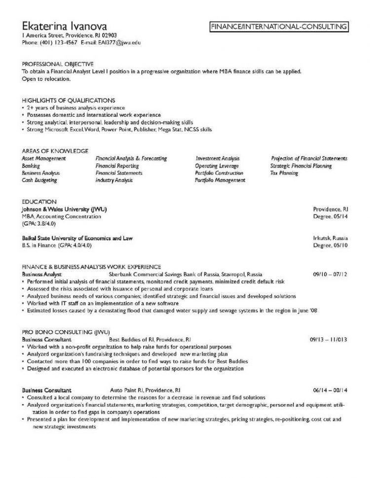 financial advisor resume best personal financial advisor resume