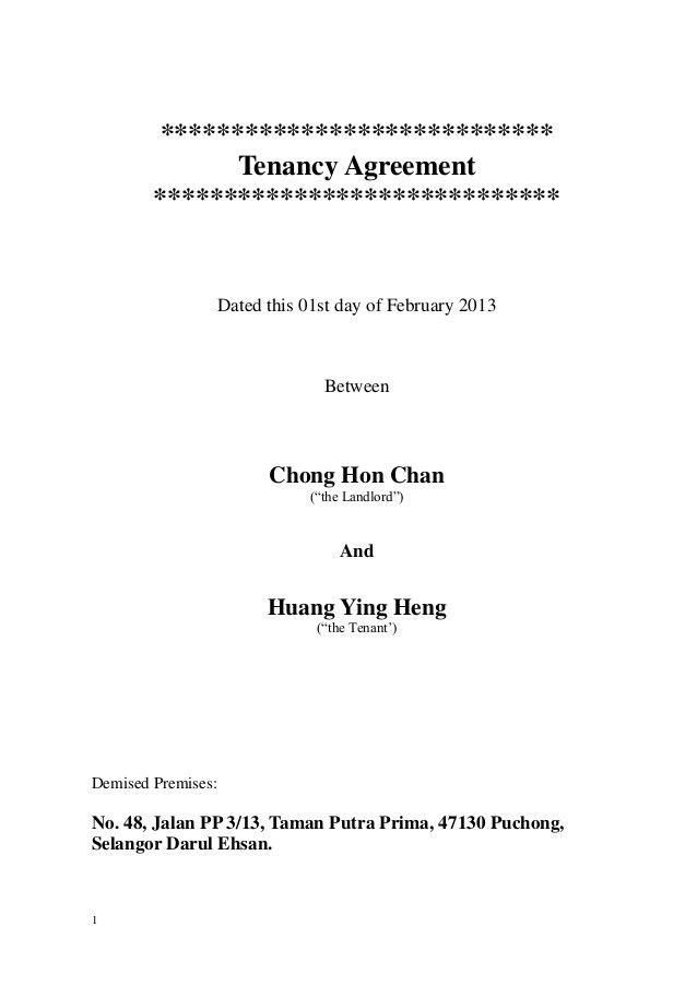 Amended-Tenancy Agreement- 2013