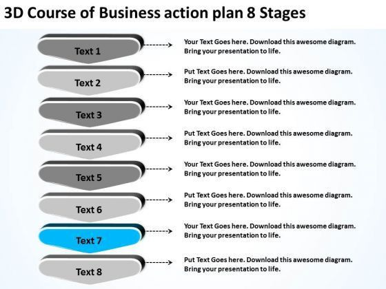PowerPoint Templates Action Plan 8 Stages Free Business Plans ...