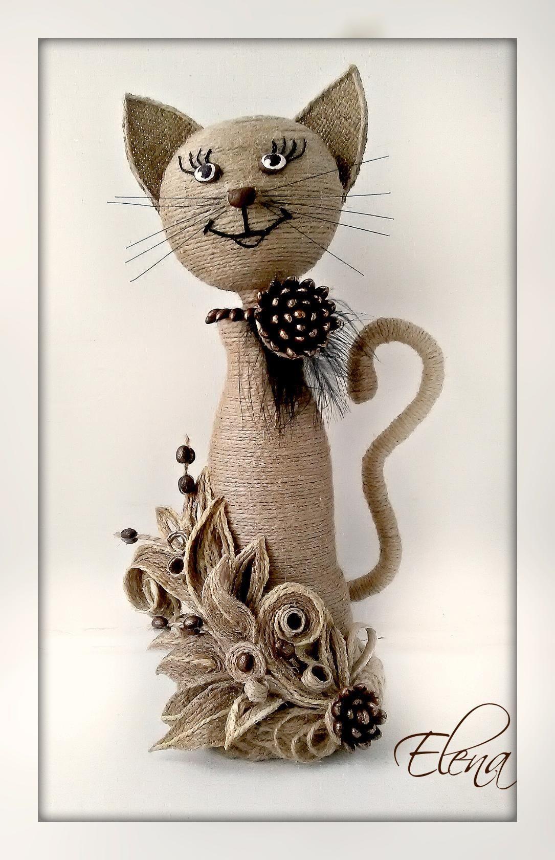 Кот из шпагата своими руками поэтапно