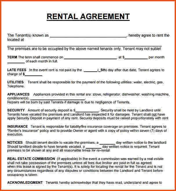 12+ house rental agreement template | Survey Template Words