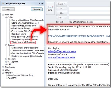 Email templates for Microsoft Outlook 2003, 2007, 2010 and 2013