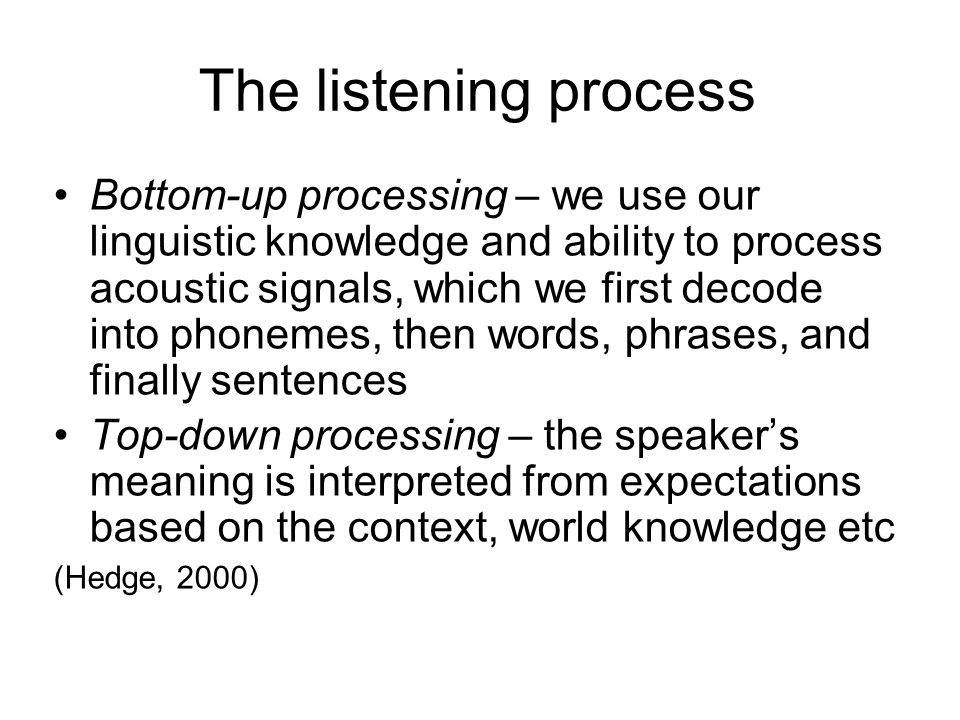 Teaching Listening. - ppt video online download