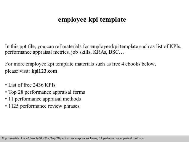 Employee kpi template