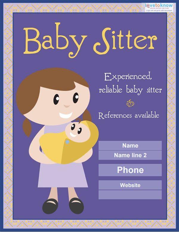 10+ Fabulous PSD Baby Sitting Flyer Templates | Free & Premium ...