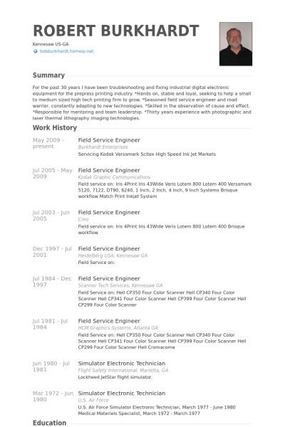 Field Service Engineer Resume samples - VisualCV resume samples ...