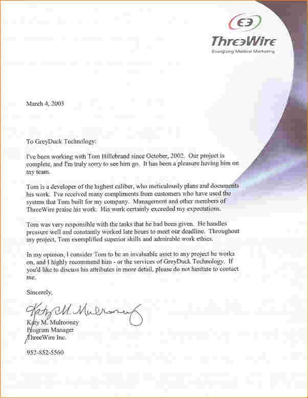 4+ employee recommendation letter | Outline Templates