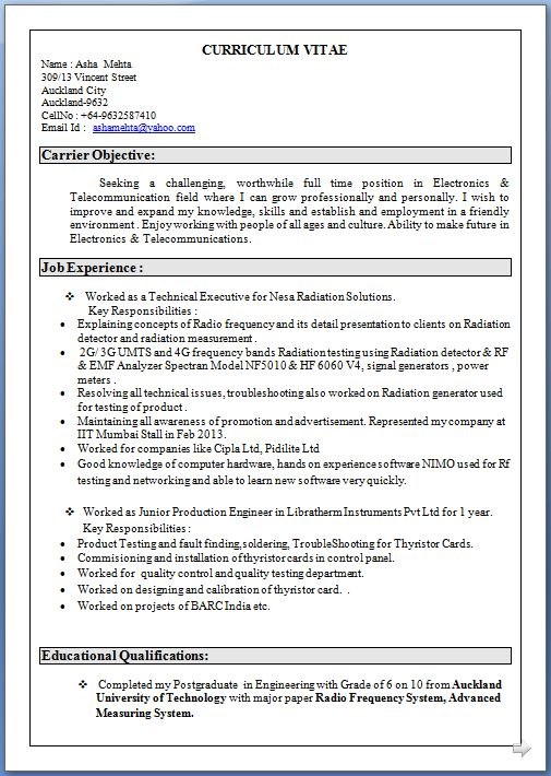 Biodata Resume Sample] Search Results For Ucsample Simple Resume ...