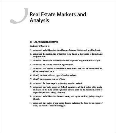 Market Analysis Template   9+ Free Sample, Example, Format | Free .