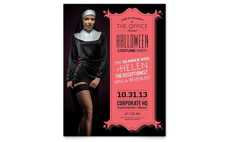 Halloween Costume Party Flyer Template - Word & Publisher