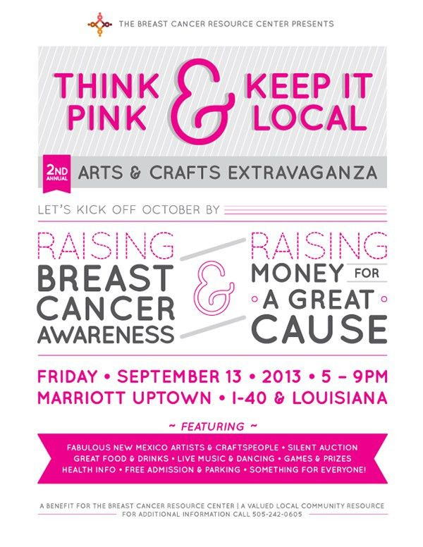 Breast Cancer event flyer on Behance