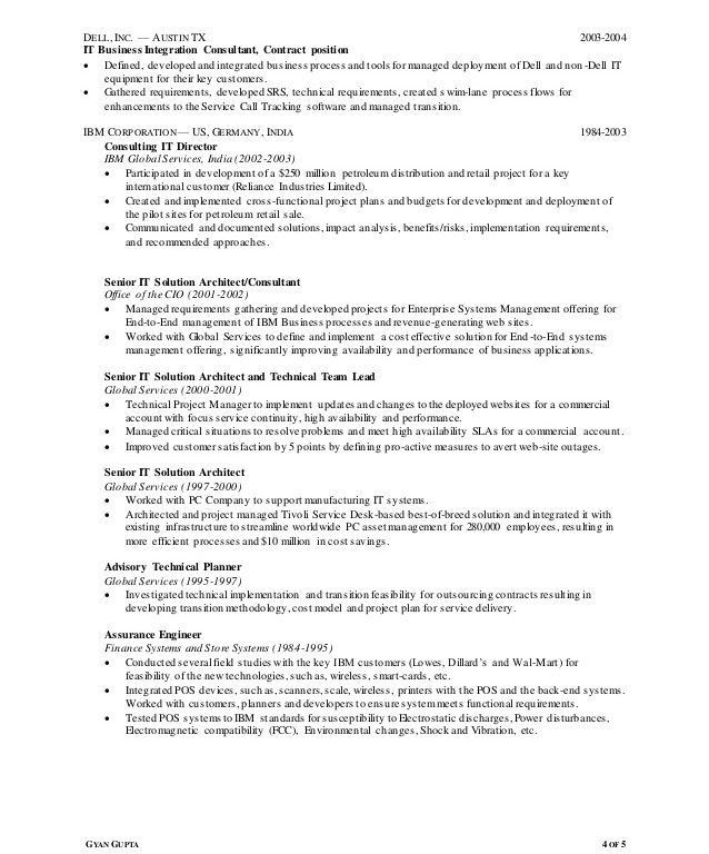 Excellent Design Ideas Agile Resume 14 Resume Of Gyan Gupta For ...