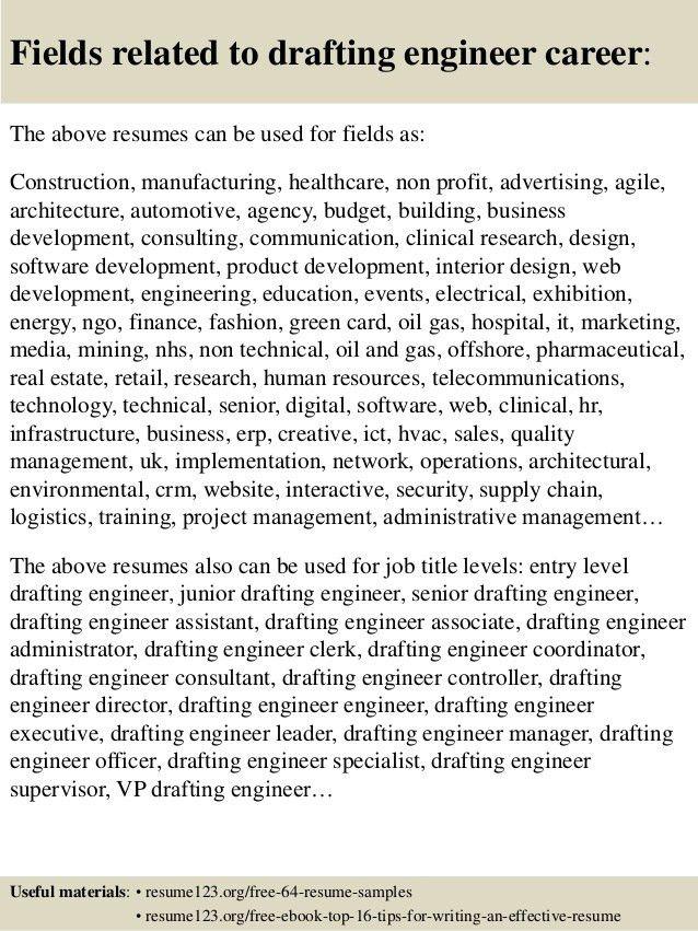Top 8 drafting engineer resume samples