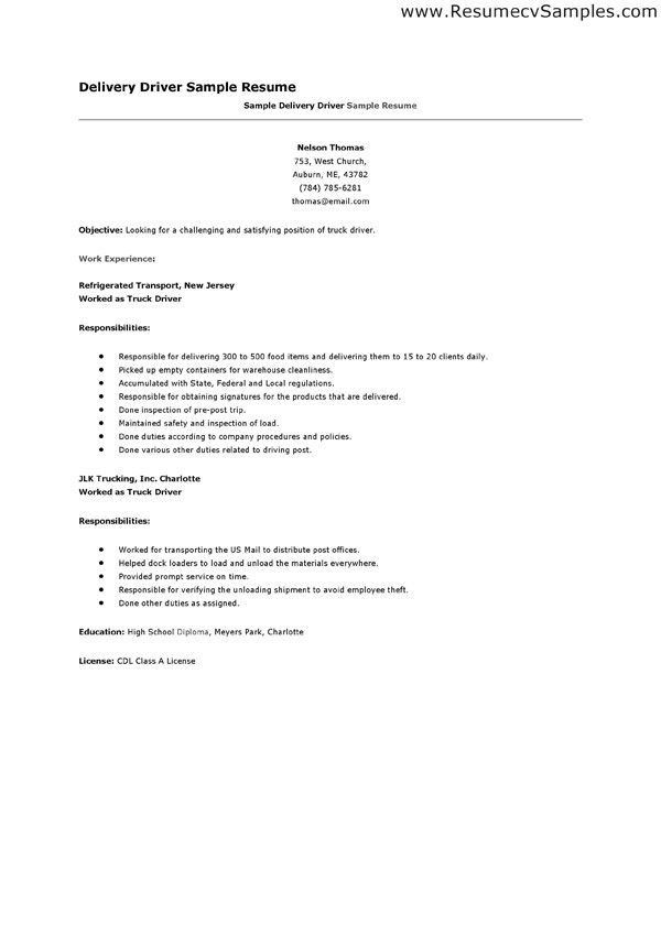 truck drivertrucking resume template for free download. driver ...