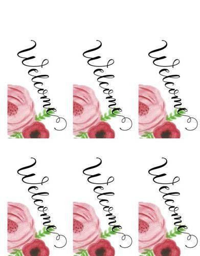 Wedding Favor Welcome Tag Flower Label - Label Templates - OL1062 ...