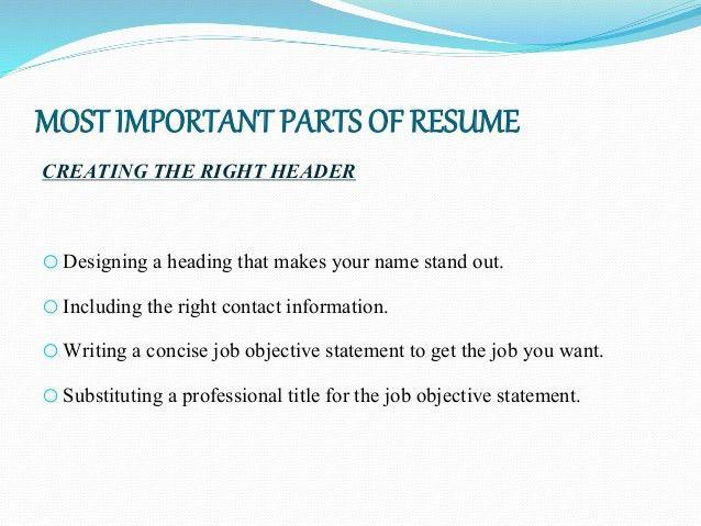 Resume writing draft