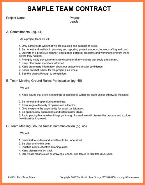 12+ team contract template | Invoice Example 2017