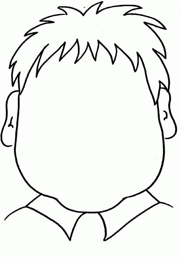 FUN - printable coloring page - blank face, fun for toddlers to ...