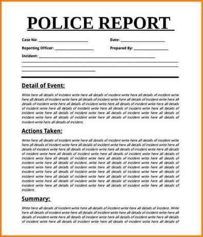 7+ police report template | writable calendar