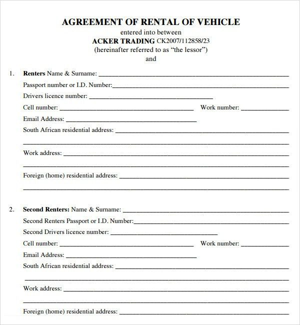 Excellent Dot Authority Car Lease Contract Template Ideas : Vlcpeque