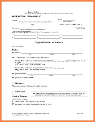 7+ can i print out divorce papers online | Divorce Paper