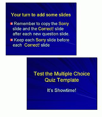 Modify PowerPoint Template For Multiple Choice Quiz