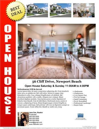 Need A Flyer In A Hurry??? Possibly for a new open house this weekend