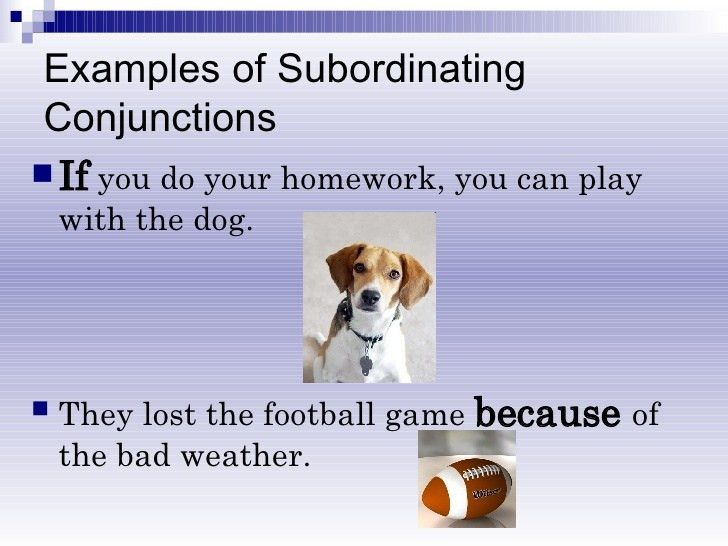 Subordinating & Coordinating Conjunctions