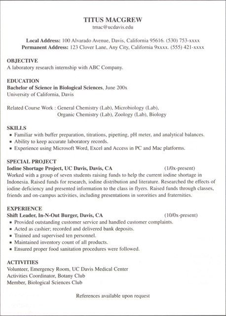 resume for job seeker with no experience business insider. finance ...
