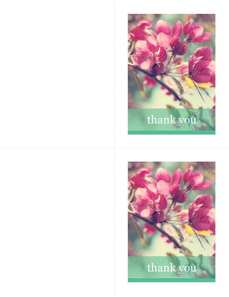 Thank you cards - Office Templates