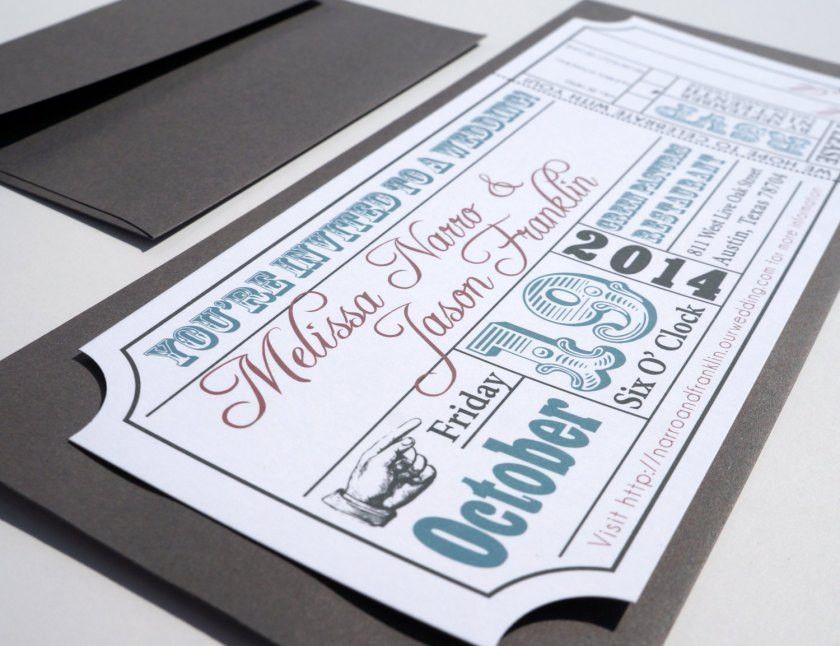 Festival Ticket Wedding Invites – Wedding Invitation Ideas