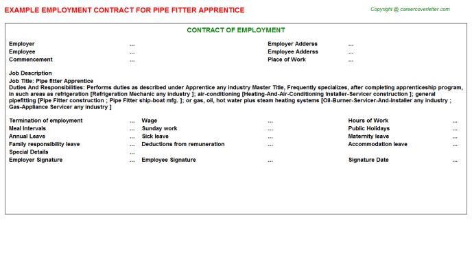 Apprentice Beautician Employment Contracts