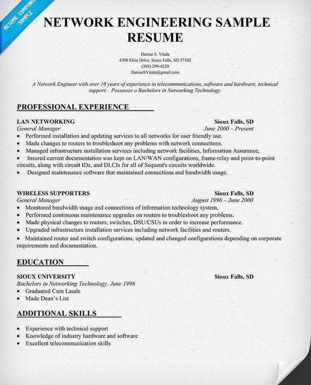 Comely At And T Network Engineer Sample Resume Opulent - Resume CV ...