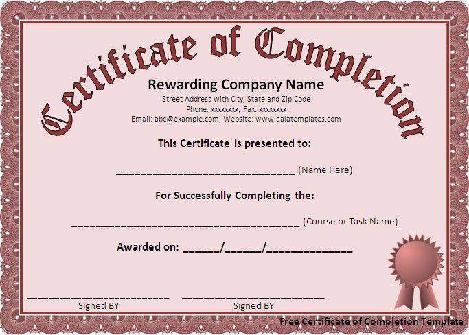 Best 25+ Certificate of completion template ideas on Pinterest ...