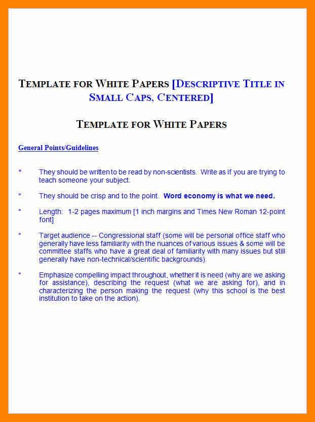 10+ white paper template doc | resumes great