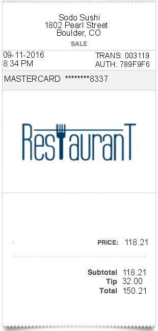 Restaurant-receipt | ExpressExpense - Custom Receipt Maker