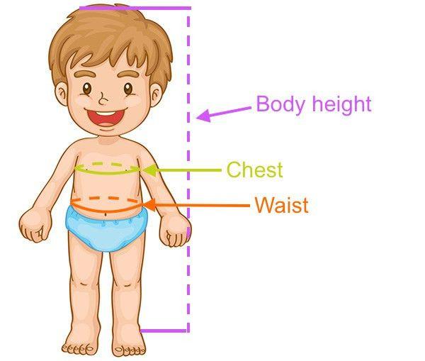 Boys' Swimwear Size Chart