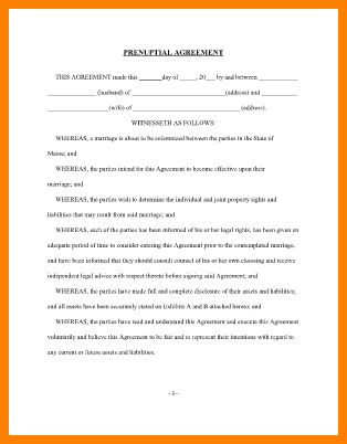 10+ free printable prenuptial agreement form | ledger paper