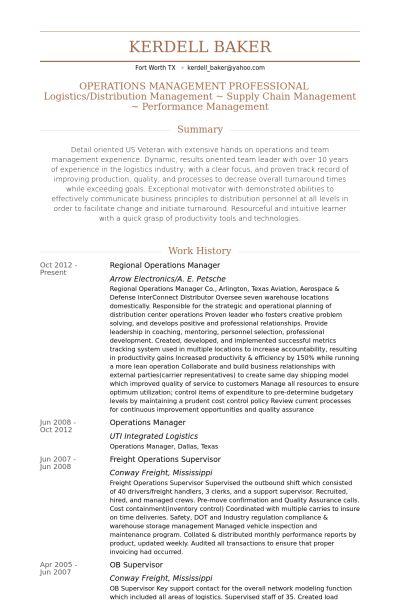 Regional Operations Manager Resume samples - VisualCV resume ...