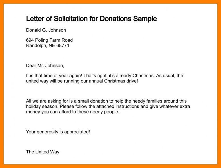 9+ sample solicitation letter for donation | hostess resume