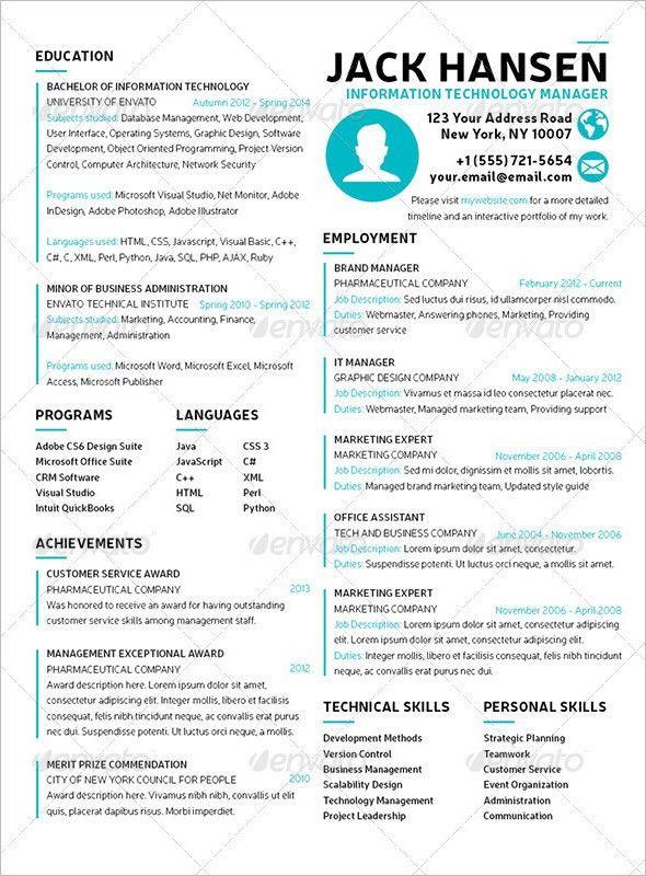 39+ Student Resume Templates || Free & Premium Templates ...